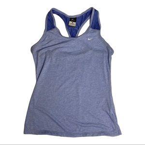 Nike Dri Fit Athletic Blue Purple Tank Top Medium
